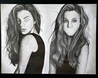 14x18.5 Unique Graphite Drawing
