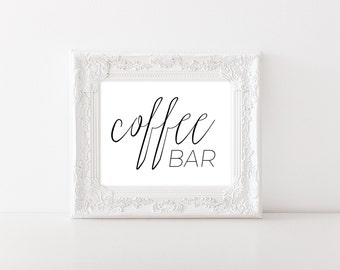 Coffee Bar Sign - Coffee Bar Decor - Coffee Bar Table - Rustic Wedding Decor - Wedding Printable Signs - Coffee Sign - Rustic Wedding Sign