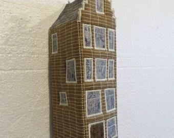 House Series - Dutch #1- 3D textile art, Fibre art, textile sculpture