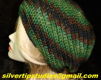 """Slouchy Hat, Bohemian (Hipster), Color - """"RENEGADE"""", Breathable Loose Stitch for wear in all seasons, Slouch Beanie, Slouch Hat, Hat"""