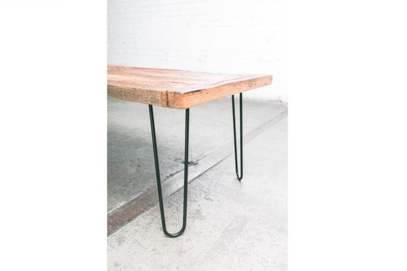 "16"" Hairpin Legs (Satin Black) - Set of 4 Table Legs - Mid Century Modern - Industrial Strength"