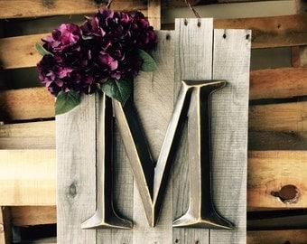 Custom Wooden Initial Sign