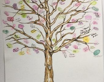 Thumbprint Guestbook Tree