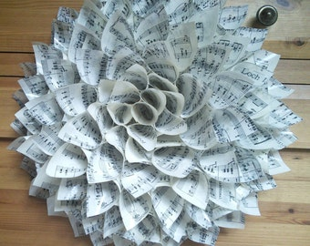 Musical paper dahlia.