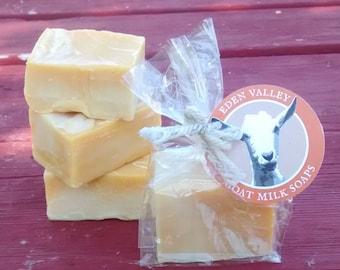 All Natural Orange Swirl Goat Milk Soap 2 oz.