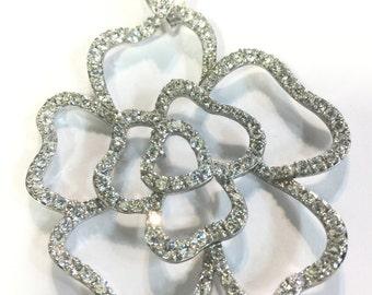 Flower Sterling Silver 925 Pendant