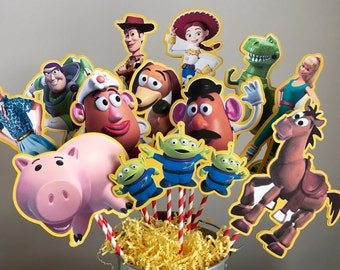 Toy Story Set of 12 Centerpiece Picks (DOUBLE-SIDED)