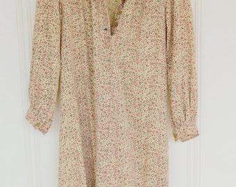 1970s Ditsy Print Prairie Dress