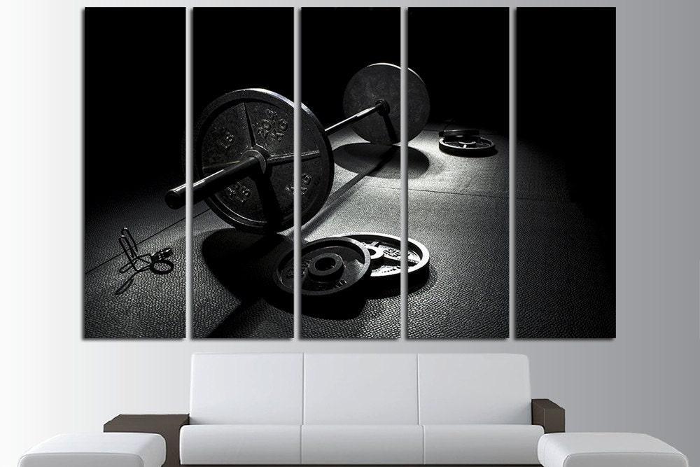 Classy home gym wall decor decorating design of