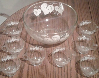 1950's punch bowl