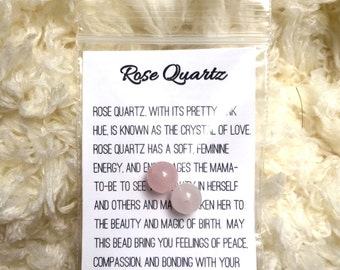 Pair of Rose Quartz Blessing Way/Mother Blessing Beads