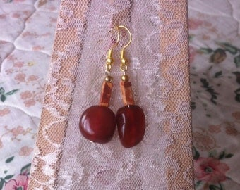 precious scarlet earrings