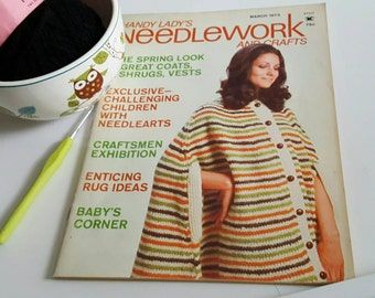 March 1973 Handy Ladys Needlework and Crafts Magazine