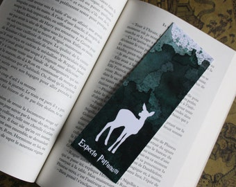Bookmark Art drawing print, Harry potter, Patronus DOE illustration brand page