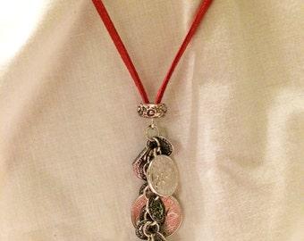 Silver Coin Cascade Necklace