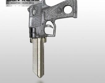 Gun Key Blank House Key Full 3D Metal Mold Semi-Auto Handgun Schlage House Key SC-1 ~ FREE Gift BOX!