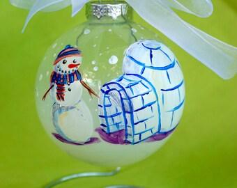 Snowman with Igloo
