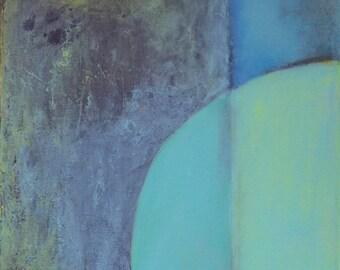 "One Way - Original Acrylic Painting 12"" x 36"" Artwork"
