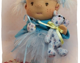 Doll blue 24 in. Doll light blue 9 ''
