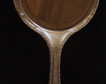 Antique Russian Silver Mirror
