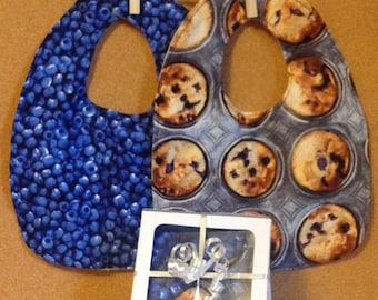 Blueberry Bakers Box Bib