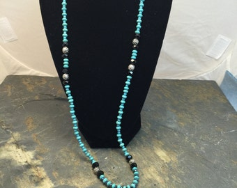 Onix and Turquoise Necklace