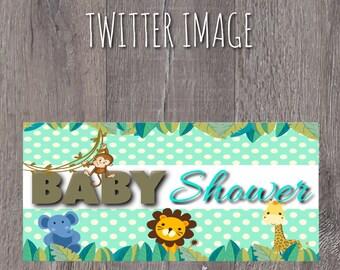 Items Similar To Jungle Themed Baby Shower Invitation On Etsy