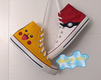 Pokemon Hand Painted Custom Shoes