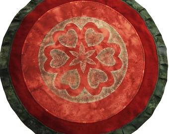 Mythala: Heart Connection; Mandala...Myth...Mythala (Wall Hanging, Altar Cloth, Prayer, Meditation, Sacred Art, Grace, Devotional, Ritual)
