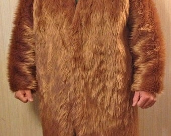CAVEMAN COAT budget faux fur unlined men's Playawear costume BURNINGMAN style Cosplay Larp Festival WoW mails out tomorrow!