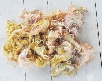 Suri Alpaca Locks - Hand Dyed - Silky and Soft - Morning Light - 3.9 ounces