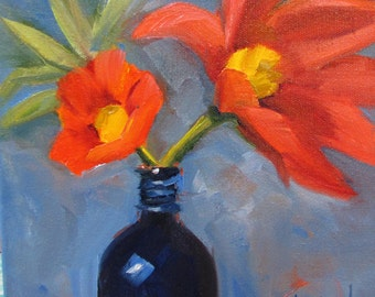 Flower Study in Vase  Barbara Haviland BarbsGarden Texas Contemporary Artist