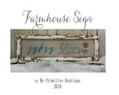 BUSINESS SIGN / FARMHOUSE Signs / Custom Wood Signs / Distressed Signs / Chippy Paint / Shabby Chic Signs / Rustic Signs / Reclaimed Wood