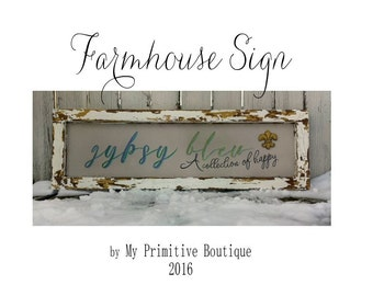 FARMHOUSE SIGN | Business Sign | Farmhouse Decor | Signs | Distressed Signs | Shabby Chic Signs | Rustic Signs | Wood Signs | Reclaimed Wood