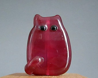Cat Bead Handmade Lampwork Focal - Harriet FatCat