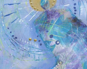 Colorful  ANGEL - original abstract painting