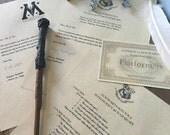 Harry Potter Hogwarts Acceptance Letter and Hogwarts Express Ticket