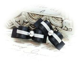 Boy Dog Bows, Black Dog Bows, Formal Dog Bows, Wedding Dog Bows, Small Dog Bows, Pet Hair Bow, Bows for Dogs, Grooming Bows, Boy Dog Bow