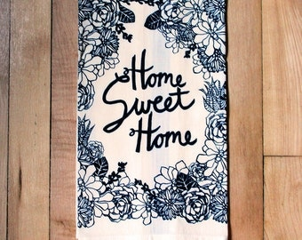 Home Sweet Home Succulent Towel