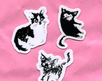Black Cat Stickers Group 3
