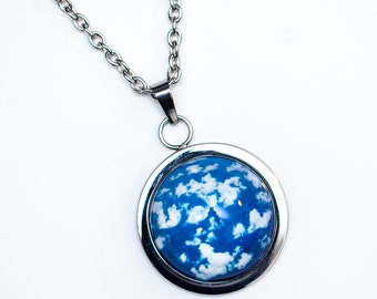 Cloud Necklace, Sky Jewelry, Photography Wearable Art