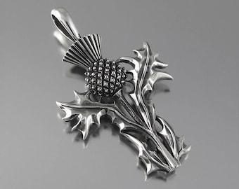 THISTLE silver pendant Ready to Ship