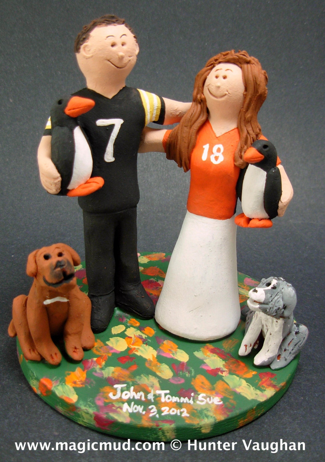 wedding cake toppers denver co pittsburg penguins football wedding cake topper pittsburg 26450