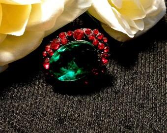 Red Green Thumbtack Pushpin, Jeweled Thumb Tack Push Pin, Cork Board Accessory