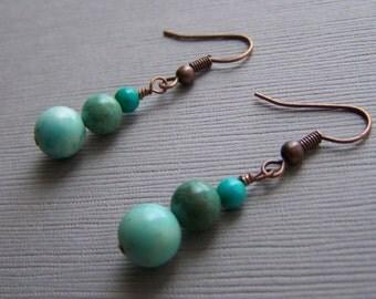 Turquoise Snowmen Earrings