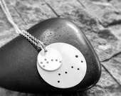 Sterling little and big dipper constellation necklace