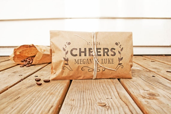 The Perfect Coffee Bag - Wedding Coffee Favor Bag - Cheers - 25 Bags