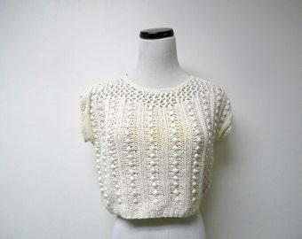 Chaus Petites . knitted . crop top . medium