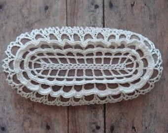 Lace Stone, Crocheted, Original Pattern, Handmade, Table Decoration, Stocking Stuffer, Christmas Gift, Oval, Monicaj