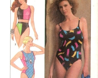 Simplicity 9210 One & Two Piece Swimsuits Size 18 - 20 Bust 40 - 42 ©1989